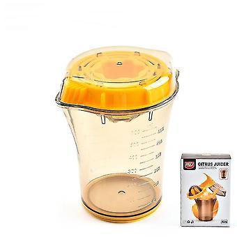 Portable Manual Juicer Cup With Measuring Fruit Squeezer Simple Orange Lemon Juice Cup