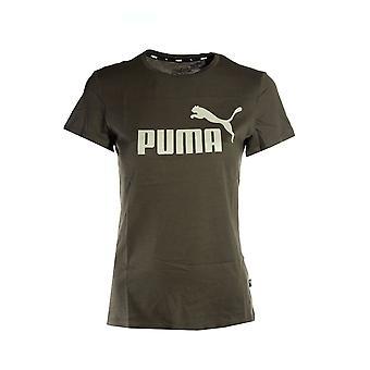 Puma Essential Logo Womens Ladies Sports T-Shirt Tee Khaki