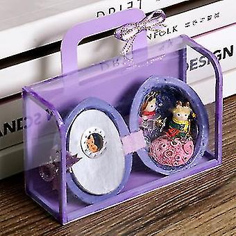 Mini Handmade Hut Model Prezent na dziewki dla dzieci (fioletowy)