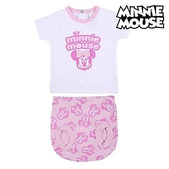 Set kleding Minnie Mouse Wit/Roze