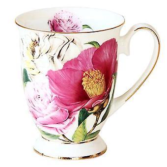 Bone China Cafeteira Kaffeetasse, Porzellan Taza Keramik Tasse, Elegante Kaffeetasse (rosa)