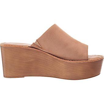 Chinese Laundry Womens WAVERLY TINY RIB Leather Peep Toe Casual Platform Sandals