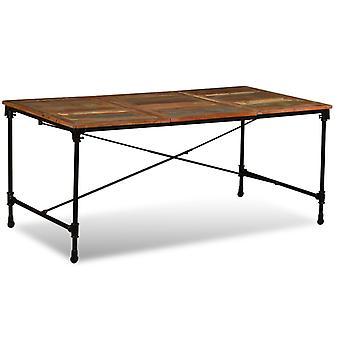 طاولة طعام vidaXL المستصلحة الخشب MAssiv 180 سم