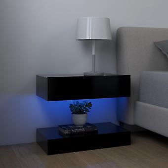 vidaxl nattbord svart 60x35 cm sponplater