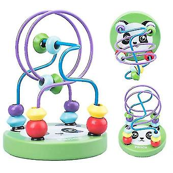 wooden Bead Maze For Baby,Early childhood educational toys,panda