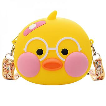 Cute Duck Shaped Silicone Waterproof Coin Purse Crossbody Bag For Kids
