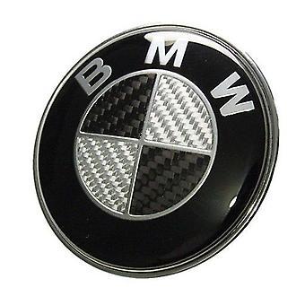 BMW Carbon Fibre Zwart Achterklep Deksel Embleem 74mm