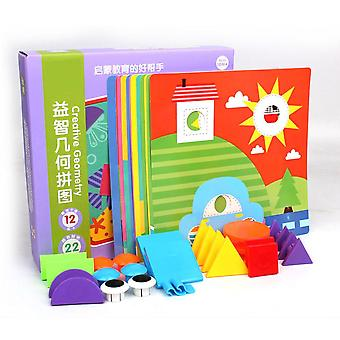 3d Puzzle funghi per bambini Cognitive Geometric Shape Button Baby Early Education Giocattolo-b