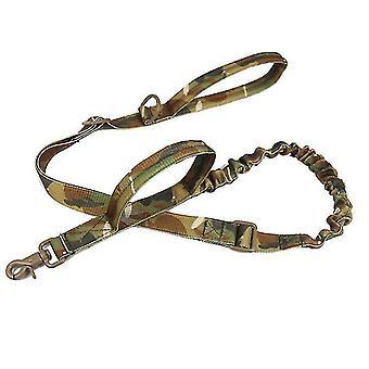 Ulkona nailonkoiran talutushihna, sotilasfani taktinen koiran koulutusvyö (Cp)