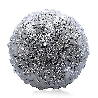 Round Blush Wedding Bouquet Flower Rhinestone Bridesmaid Crystal