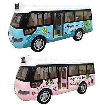 Koulubussin äänivalon retkibussin malli lelu