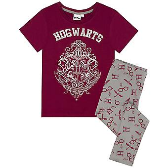 Harry Potter Girls Hogwarts Crest Glitter Pyjamas Set