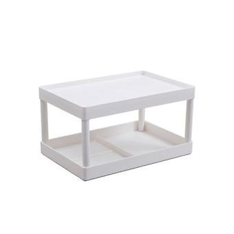 Desktop Storage Rack Kitchen Plastic Storage Rack Bathroom Countertop Cosmetic Shelf|Storage