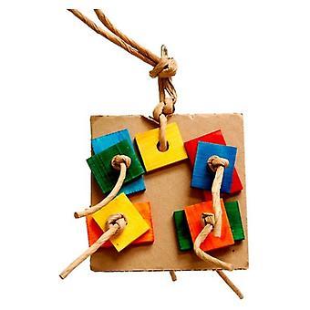 """Zoo-Max Birdie Pizza Bird Toy - Small 6""""L x 6""""W"""