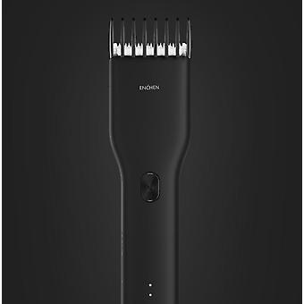 Hair Trimmer For Men USB Rechargeable Electric Clipper Cutter Machine With Adjustable Comb(black)