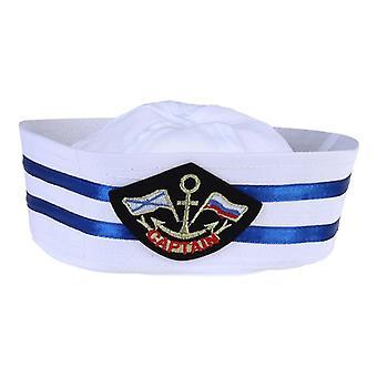 Unisex Child Captain Sailor Hat, Skipper Navy Marine Cap