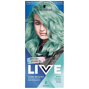 Schwarzkopf 3 X Schwarzkopf Live Pretty Pastels Haarfarbe - Mint Pearl P124