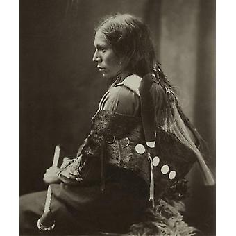 Sioux Native American Indian man, 1890. Large Framed Photo. Sioux Native American Indian man, 1890.