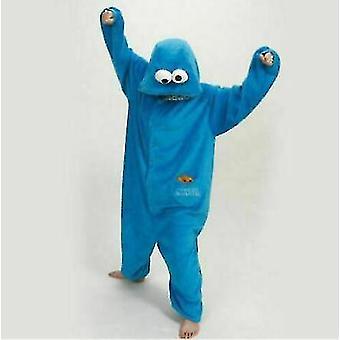 Adult Blue Sesame Street Cookie Elmo Costume(L)