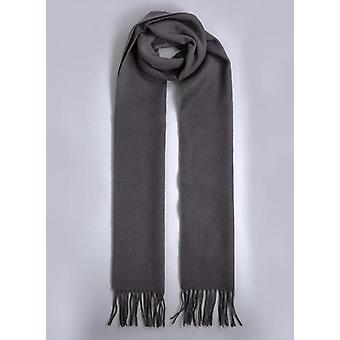 Charcoal Grey Lambswool Winter Scarf