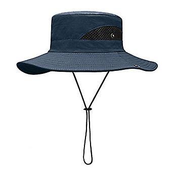 Upf 50+ Chapeaux d'été Hommes Protège-soleil à l'épreuve des UV Seau Chapeau Large Large Brim Randonnée En Plein Air Pêche Plage Cap Cowboy Nouveau