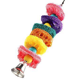 Madár Papagáj Toy Természetes Loofah Szivacs