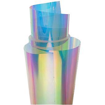 Farbfilm, Glasfolie, Zauberfilm, Laseraufkleber, Farbverlaufsfilm, Regenbogenfilm, Buntfilm, Farbwechsellaserpapier (37cm * 1m)