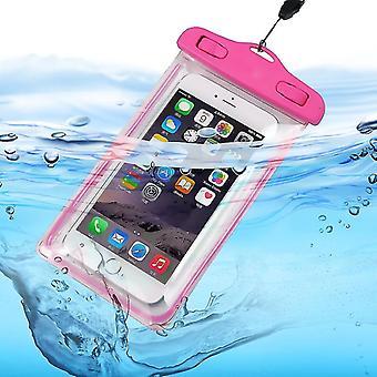 サムスンギャラクシーA01(ピンク)防水タッチスクリーンドライバッグ電話ケースカバー保護