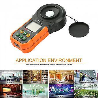 Ms6612 Digitales Luxmeter 200.000 Lux Lichtmesser Testspektren Auto Range Messung