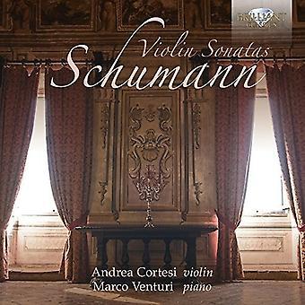 Cortesi, Andrea/Venturi, Marco - Schumann: Violin Sonatas [CD] USA import