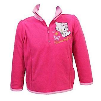 Jumper Hello Kitty flickor halv Zip Fleece