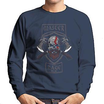 Master The Rage Kratos God Of War Men's Sweatshirt