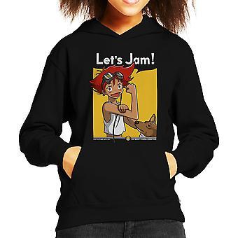 Jamming With Edward Cowboy Bebop Kid's Hooded Sweatshirt