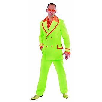 Disco de trajes de homens homens Fluo terno para homens
