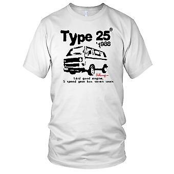VW Type 25 Campervan 1988 Mens T Shirt