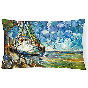 Reker båt 101 lerret stoff Dekorative Pillow