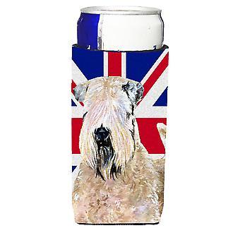 Wheaten Terrier weich beschichtet mit englischen Union Jack britische Flagge Ultra Getränk
