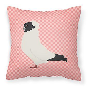 Carolines Treasures  BB7952PW1818 Nun Pigeon Pink Check Fabric Decorative Pillow