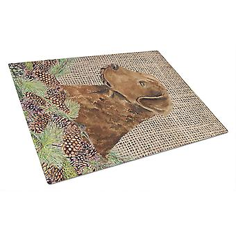 Carolines Treasures  SS4108LCB Curly Coated Retriever Glass Cutting Board Large