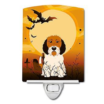 Halloween Petit Basset Griffon Veenden keramische nachtlampje