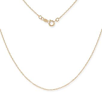 14 k Yellow Gold Rope Chain hanger ketting - 15 Inch