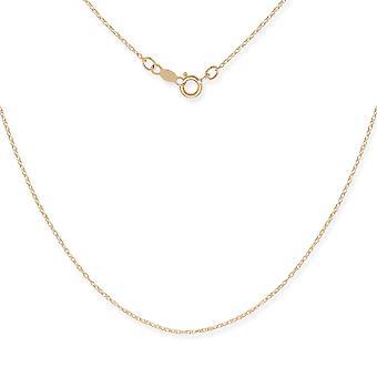 14 k желтое золото веревку кулон ожерелье цепь - 15 дюймов