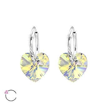 Hjärta kristall från Swarovski® - 925 Sterling Silver Örhängen - W28640X