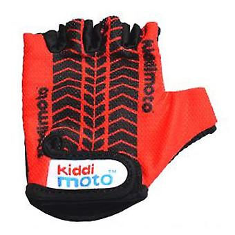 Kiddimoto Cycling Gloves Red Tyre