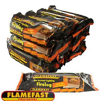 FlameFast umiddelbar belysning Firelog (pakke med 12)