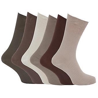 Specialist Item: Mens Ribbed XL Non Elastic Top Socks (Pack Of 6)
