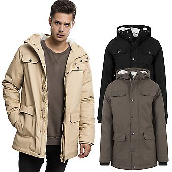 Urban classics - COTTON PARKA winter jacket jacket with Sherpa