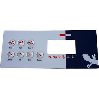 Gecko 9916-100331 7 Keys Overlay for TSC-18