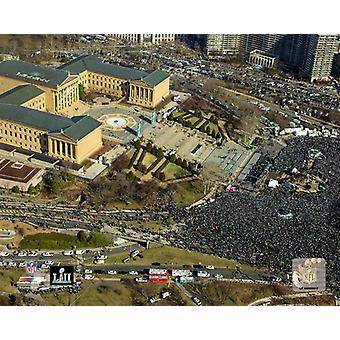 The Philadelphia Eagles Super Bowl LII Victory Parade near the Philadelphia Museum of Art Thursday Febuary 8th 2018 Photo Print