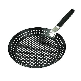 Mr. Bar-B-Q Non-Stick Veggie and Seafood Grilling Skillet 12 Inch